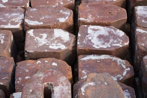 Schoon gemaakte stenen.