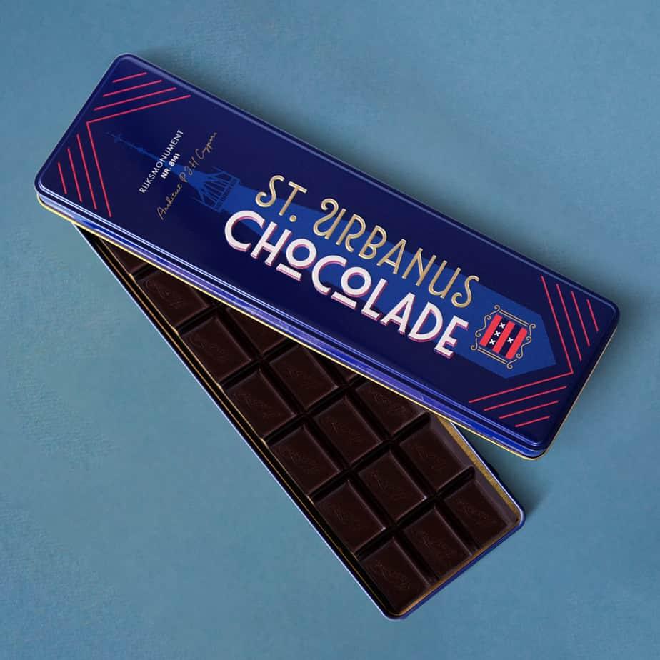 Blikje chocoladereep puur