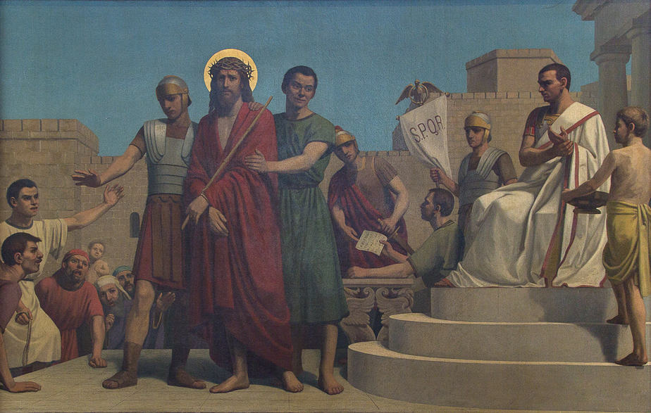 Eerste statie   Jezus wordt ter dood veroordeeld